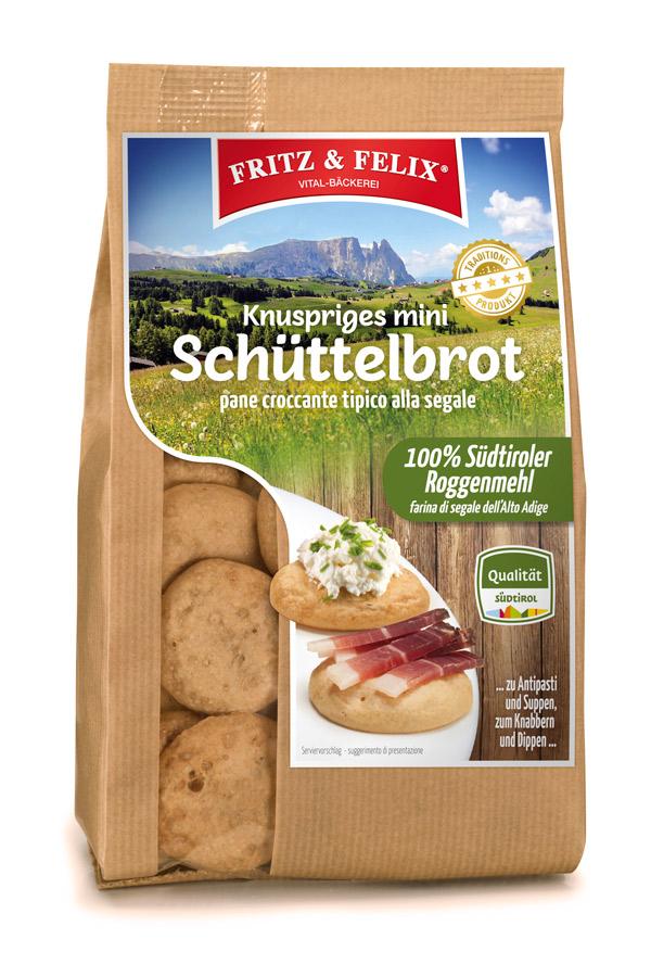 Mini Schüttelbrot Original - Roggenmehl