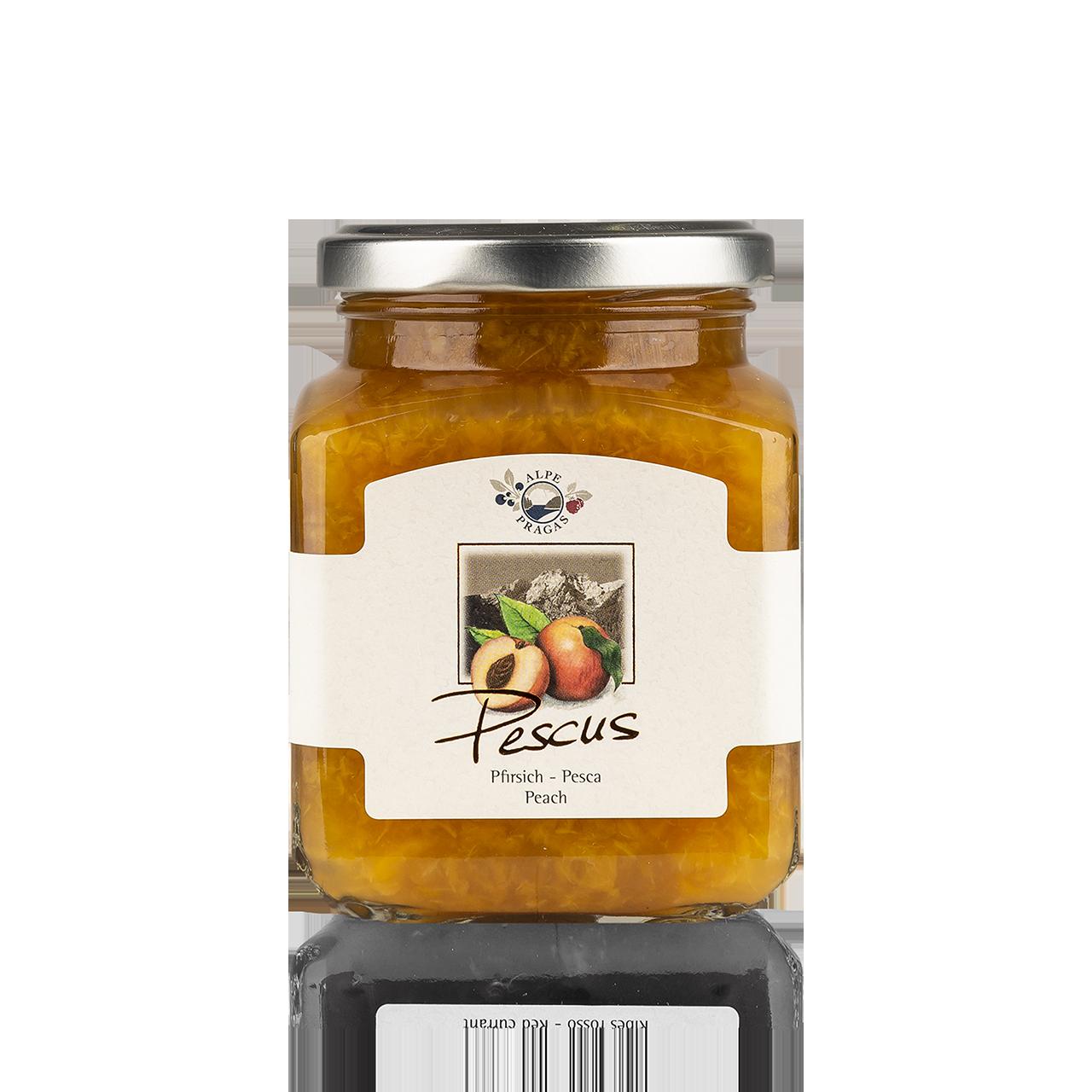 Pescus Fruchtaufstrich Pfirsich 335g - 75% Frucht