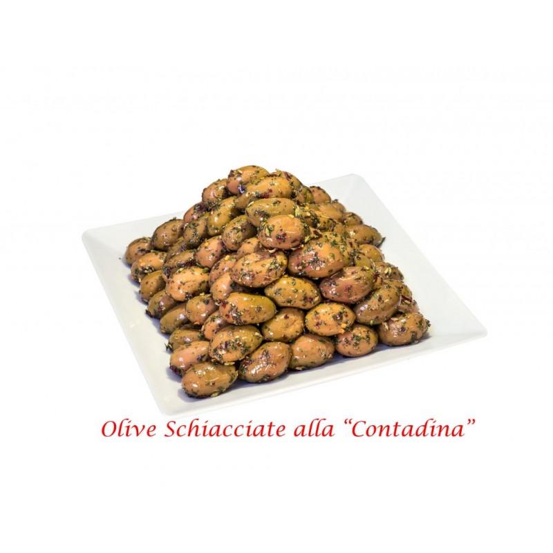 """Oliven mit Stein nach Bauernart """"Oliva bella di Cerignola Gigante"""" Netto 400g"""