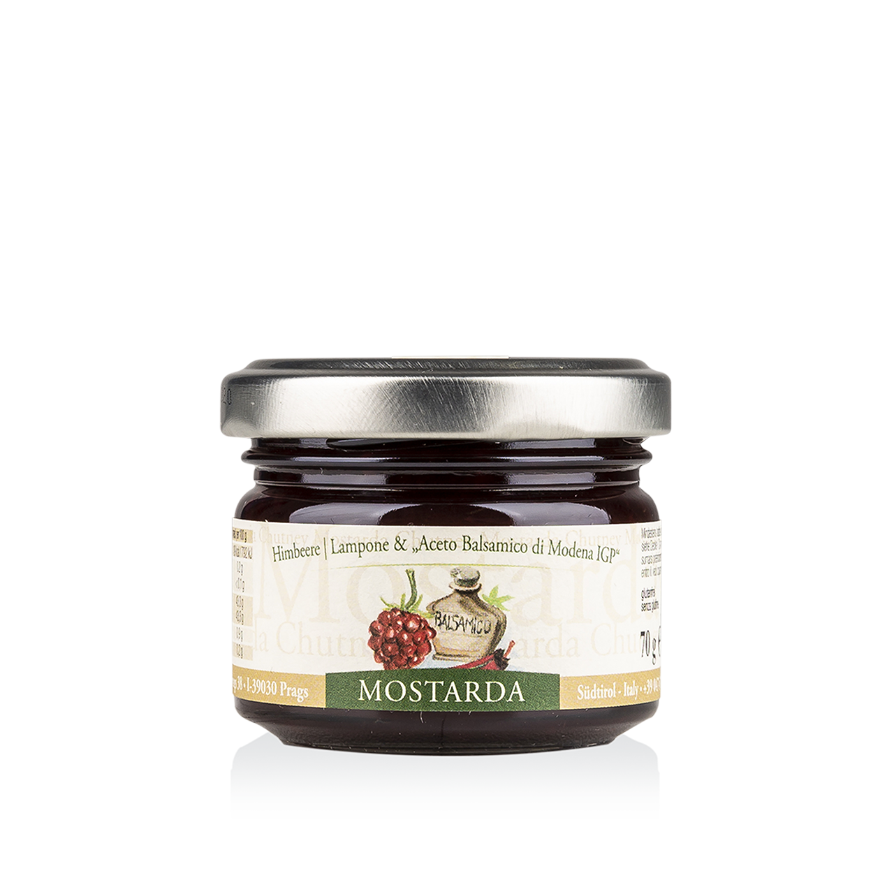 Chutney - Mostarda Himbeere mit Balsamessig aus Modena 70g