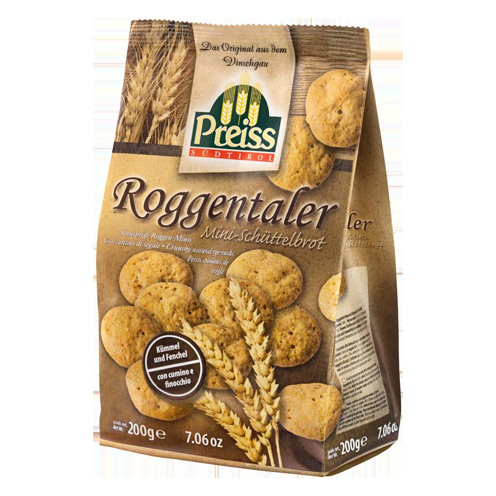 PREISS Roggentaler - Knusprige Roggen-Minis mit Kümmel und Fenchel - 200g